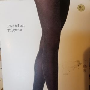 NWT Black with Gold Speckled Tights